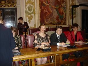 Заседаем на встрече с организаторами стажировки