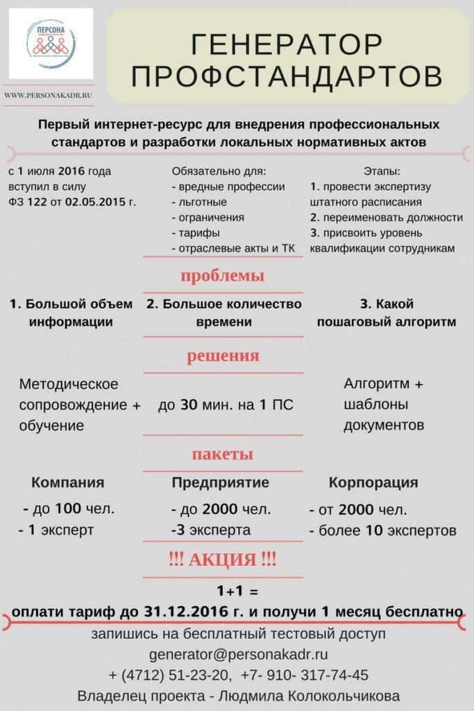 Генератор профстандартов