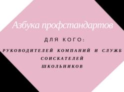 Азбука профстандартов